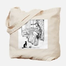 Reading Lady in window Tote Bag