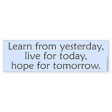 Learn... live... hope...