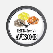 Save Vs AWESOME Wall Clock