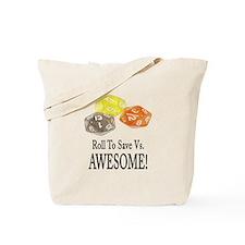Save Vs AWESOME Tote Bag