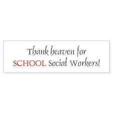 Thank Heaven School SW BRT Bumper Bumper Sticker