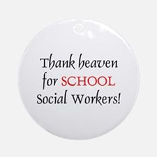 Thank Heaven School SW BRT Ornament (Round)
