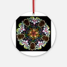Gold Flower Kaleidoscope Ornament (Round)