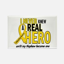 Never Knew A Hero 2 GOLD (Nephew) Rectangle Magnet