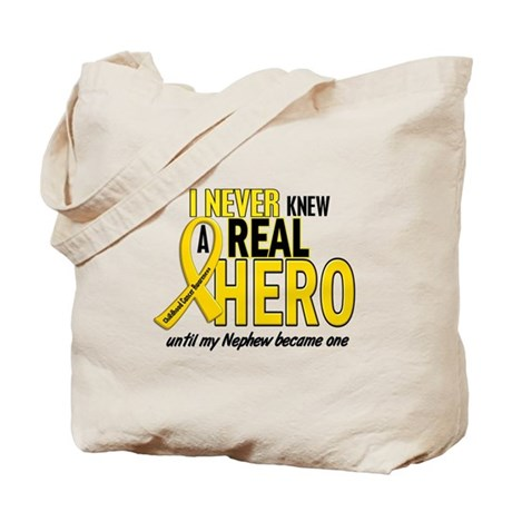 Never Knew A Hero 2 GOLD (Nephew) Tote Bag