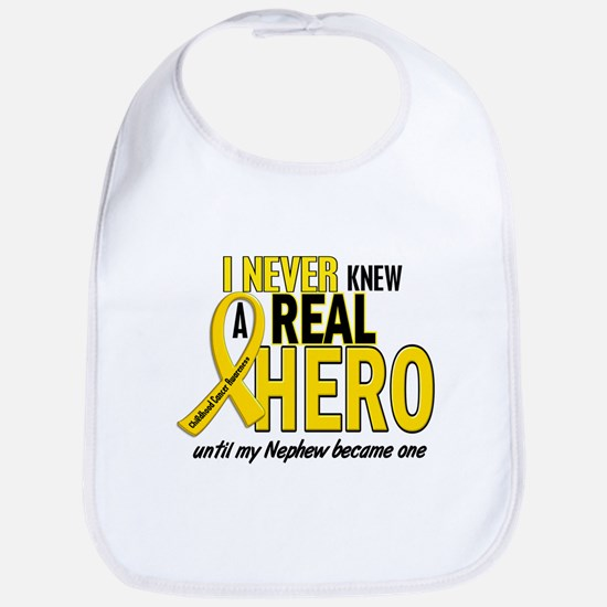 Never Knew A Hero 2 GOLD (Nephew) Bib