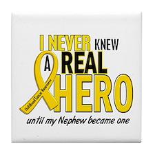 Never Knew A Hero 2 GOLD (Nephew) Tile Coaster