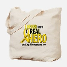 Never Knew A Hero 2 GOLD (Niece) Tote Bag