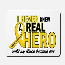 Never Knew A Hero 2 GOLD (Niece) Mousepad
