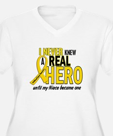 Never Knew A Hero 2 GOLD (Niece) T-Shirt