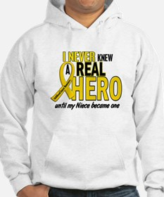 Never Knew A Hero 2 GOLD (Niece) Hoodie