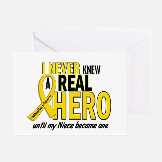 Never Knew A Hero 2 GOLD (Niece) Greeting Card