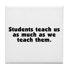 Student Teachers Tile Coaster