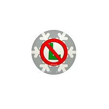 No L Snowflake Mini Button