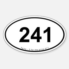 """241"" (Bumper Oval)"
