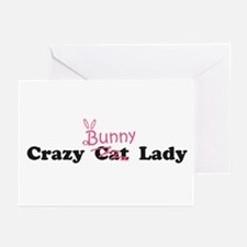 crazy bunny lady Greeting Cards (Pk of 10)