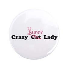 "crazy bunny lady 3.5"" Button"