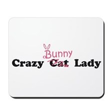 crazy bunny lady Mousepad
