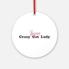 crazy bunny lady Ornament (Round)