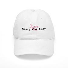 crazy bunny lady Baseball Cap
