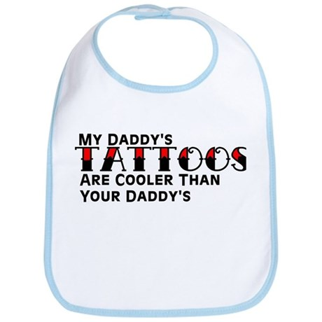 Daddy's Tattoos (Red) Bib