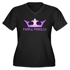 Paddle Princess Women's Plus Size V-Neck Dark T-Sh