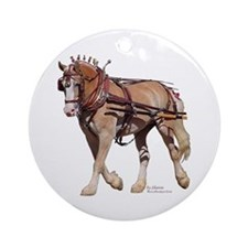 Single Harness Belgian Ornament (Round)