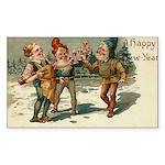 Irish Christmas Rectangle Sticker 10 pk)