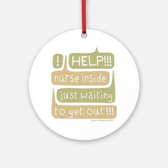 Nurse Inside Ornament (Round)