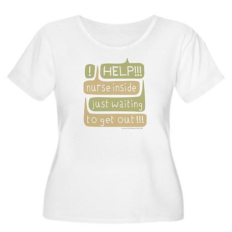 Nurse Inside Women's Plus Size Scoop Neck T-Shirt