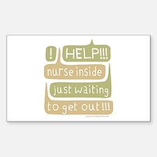 Nurse Inside Rectangle Decal