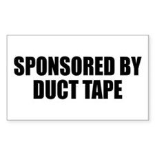 Duct Tape Sponsor Rectangle Decal