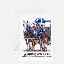 Draft Horse Teamster Greeting Card