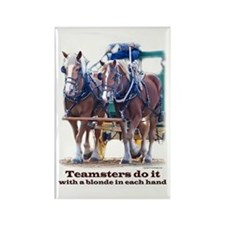 Draft Horse Teamster Rectangle Magnet