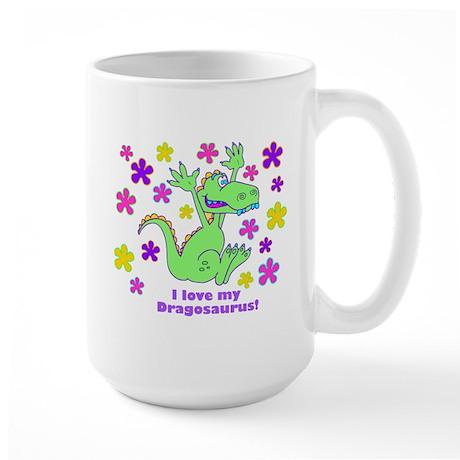 """""""I love my Dinosaurus!"""" Large Mug"""
