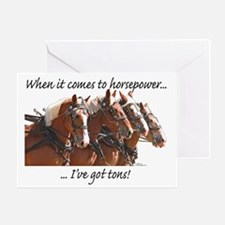 """Tons"" of Horse Power Greeting Card"