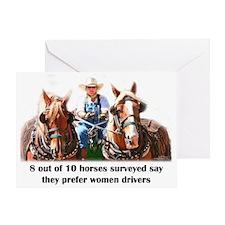 Women Drivers Draft Horse Greeting Card