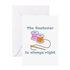 Costumer Thread Greeting Card