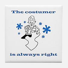 Costumer Sewing Tile Coaster