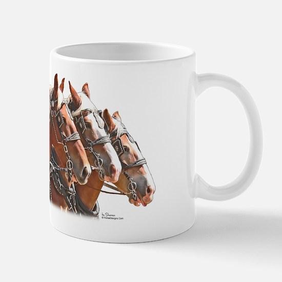 Belgian Draft Horse 4 Abreast Mug