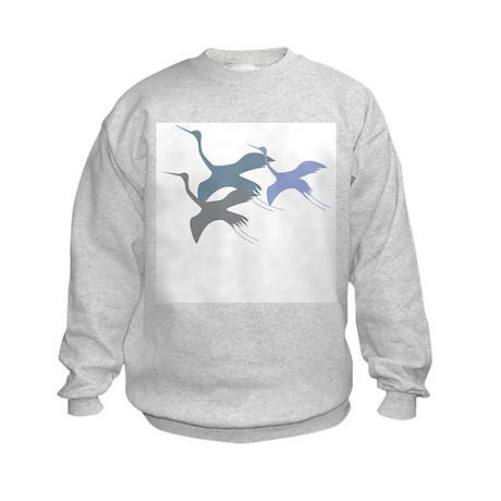 Whooping Crane Kids Sweatshirt