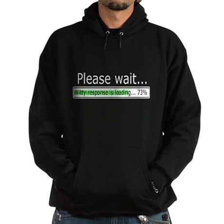 """Please Wait"" Hoodie (dark)"