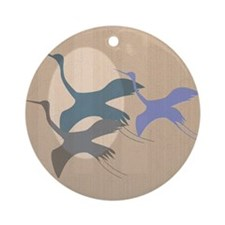 Whooping Crane Ornament (Round)