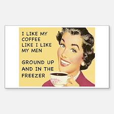 Coffee Like My Men Rectangle Decal