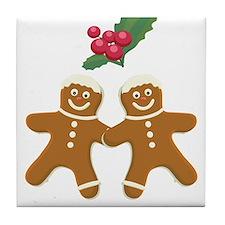 Gingerbread Men Tile Coaster