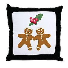 Gingerbread Men Throw Pillow