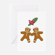 Gingerbread Men Greeting Cards (Pk of 20)