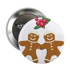 """Gingerbread Men 2.25"""" Button (10 pack)"""