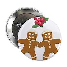 """Gingerbread Men 2.25"""" Button"""