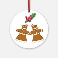 Gingerbread Women Ornament (Round)